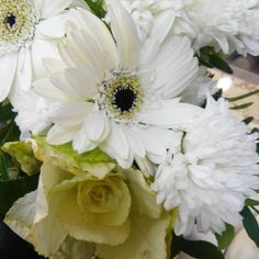 #ruusu #gerbera #krysanteemi #valkoinen #liisako