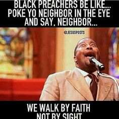 "also white preachers...""you got an Amen?"""