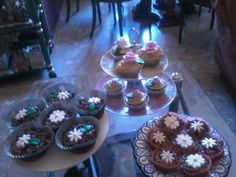 Mi primera mesa dulce de cupcakes.