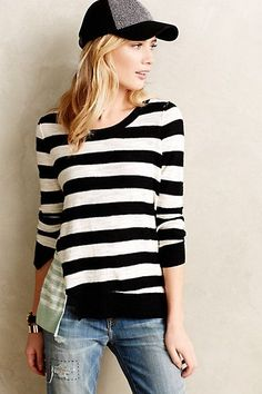 Split Stripe Pullover - anthropologie.com #anthrofave