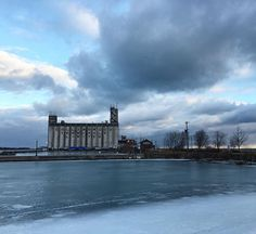 #collingwood terminals limited #silos   #waterfront #water #winter #frozen #ontario #morning #clouds