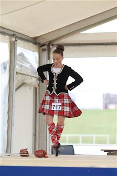 Kilt with black jacket #longniddry #red #tartan