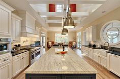 Kitchen, Contemporary Kitchen Island With White Granite Countertop Design Ideas And Modern Pendant Lamp: Kitchen Design Ideas With Granite Countertops Kashmir White Granite, White Granite Kitchen, White Granite Countertops, Light Granite, Black Granite, White Kitchens, Kitchen Countertop Materials, Kitchen Countertops, Countertop Options