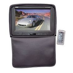 Adjustable Headrest w/ Built-In 11'' TFT/LCD Monitor W/IR Transmitter & Cover (Black)