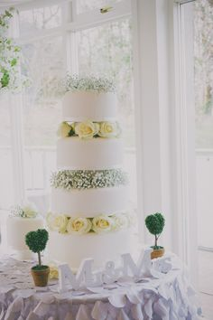 Elegant white wedding by Natalie Doherty Photography at Lough Eske Castle, Donegal Vera Wang Gowns, Donegal, Creative Cakes, Green And Gold, Eat Cake, Castle, Wedding Day, Elegant, Pretty