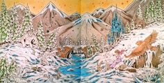 Kerby Rosanes - Mythomorphia Mystical Mountains Coloured with Prismacolor