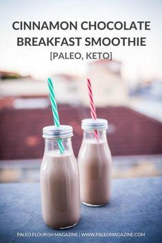 Cinnamon Chocolate Breakfast Smoothie Recipe [Paleo, Keto] #paleo #keto - https://paleomagazine.com/cinnamon-chocolate-breakfast-smoothie-recipe-paleo-keto