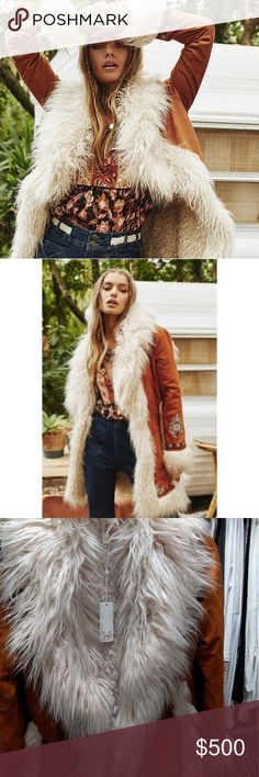 BNWT Spell & the Gypsy Joplin Jacket S/M Leave a lasting impression in the bold and utterly fabulous Joplin Jacket. Welcome to bohemia with intricate machine embroidery and luxuriously soft faux fur. Inspired by the powerfully raw and uninhibited style of 60s singer Janice Joplin, there is no doubt you will turn heads in this jacket. You?ll be the envy of all those who lay eyes on you whether you pair it with glamorous bells or a simple sundress. Price Firm/no trades/offers. Spell & The…