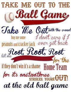 Baseball Boys Room Take Me Out to the Ball Game {With FREE Printable!} | A Mouse In My Kitchen