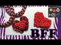 Rainbow Loom BFF (Best Friend Forever) Half Hearts. Designed and loomed by Made By Mommy. Click photo for YouTube tutorial. 05/16/14.