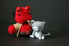 Only one complaint - needs more kitties.(Hellboy amigurumi by The Geeky Hooker.)
