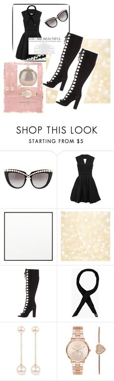 """""""Blac"""" by peaceful-young ❤ liked on Polyvore featuring Anna-Karin Karlsson, Rothko, By Lassen, Kendall + Kylie, Boohoo, Noa, Michael Kors and Halston Heritage"""