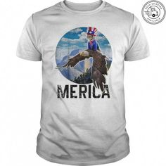7d0bfe8f This funny 4th of July cat shirt features a cat dressed as Uncle Sam riding  a