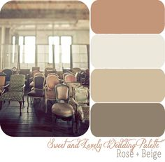 Wedding Color Palette / Rose + Beige with gold accents and a pop of muted mint/turquoise? Beige Color Palette, Nature Color Palette, Color Palate, Muted Colors, Gold Colour, Basic Colors, Pallet Painting, Wedding Colors, Wedding Ideas