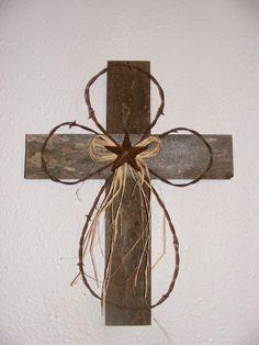 Rustic Wood Cross. :o)