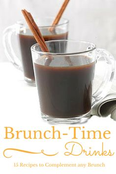 15 Recipes for Brunch-Time Drinks from Taste of Home | The perfect complement to favorite brunch recipes, serve these fun cocktails, coffees, punches, smoothies and more drinks at your next holiday or weekend brunch.