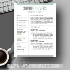 Cv Template   Colors By Visual Impact On Creative Market  Ideas