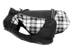 Perfect for your larger Dog for cooler weather this fashionable Alpine Black and White Plaid Coat one of 7 color combinations shop online at www.zoedoggy.com