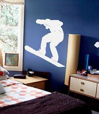 snowboard decor for teen boy room | Snowboarder Kids Room Wall Decal Decor