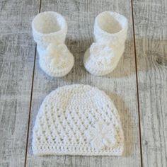 Babyschuhe & Mütze MARY