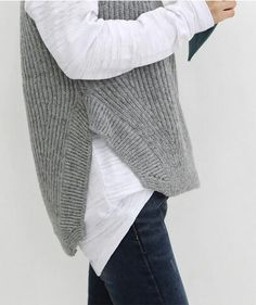 I can never own too many grey sweaters. I'm knitting one right now.