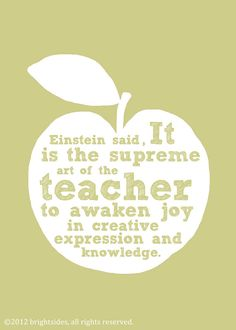 What Einstein said, #artsed