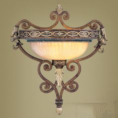 C185-8531-64 By Livex Lighting-Seville Collection Palacial Bronze with Gilded Accents Wall Sconce