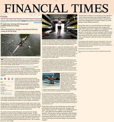 Katherine and the Financial Times take to the water to discuss her new book