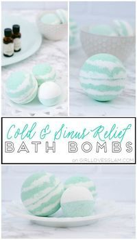 Cold and Sinus Relief Bath Bombs on http://www.girllovesglam.com