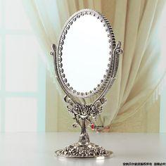 Barato Liga do vintage da moda beleza espelho rose bancada vanity espelho decoração de, Compro Qualidade Espelhos para Banheiro diretamente de fornecedores da China: detalhes do produto
