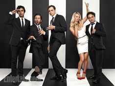 The Big Bang Theory's: Kunal Nayyar, Simon Helberg, Jim Parsons, Kaley Cuoco & Johnny Galecki <3