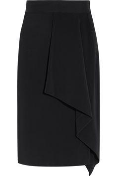 Skirt Pants, Dress Skirt, Skirt Midi, Model Rok, Jupe Short, Crepe Skirts, Sexy Skirt, Roland Mouret, Office Fashion