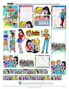 Free Printable Archie Comics Planner Stickers | Victoria Thatcher