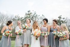 Southern Bride and Bridesmaids