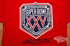 For sale here is a vintage 90s NFL Super Bowl XXV big logo t-shirt; made in USA. It is in very good vintage condition.