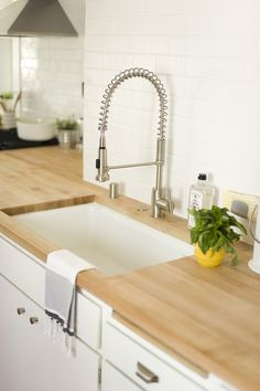 Cool industrial looking kitchen sink faucet - may be too big for small island