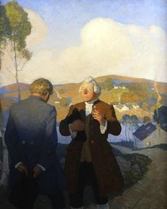'Mr. Campbell, The Minister of Essendean' - illustration by N. C. Wyeth for 'Kidnapped', 1913