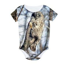 Great Gray Owl All Over Print Bodysuit #infant