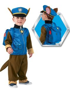 Paw Patrol Chase -  Child Costume             | very.co.uk