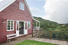 converted barn on a hill Airbnb Australia, Australia Travel, Cottage Names, A Frame Tent, Converted Barn, Outdoor Baths, Arched Windows, Timber Flooring, Rose Cottage