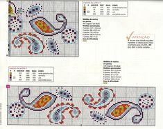 ♥ My point Graphs Cruz ♥ Cross Stitch Borders, Cross Stitch Flowers, Cross Stitch Charts, Cross Stitch Designs, Cross Stitching, Cross Stitch Patterns, Hand Embroidery Stitches, Cross Stitch Embroidery, Tapestry Crochet Patterns