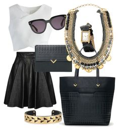 """""""Stella & Dot Collette and Hudson Tote"""" by kmathews62 on Polyvore featuring Stella & Dot, Jeremy Scott and Chicwish"""