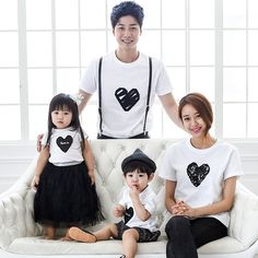 38a0360451b 1pc Retail 2016 Family Look T-shirts Father Son Mother Daughter Summer  Matching… Mother