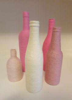 DIY Wine Bottle. Might make a cute vase.