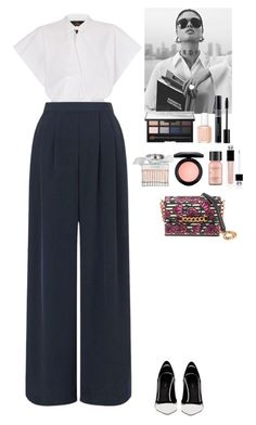 """""""Outfit"""" by eliza-redkina ❤ liked on Polyvore featuring Miss Selfridge, Greymer, Christian Dior, NARS Cosmetics, Essie, Perricone MD, Chloé, MAC Cosmetics, Charlotte Olympia and outfit"""