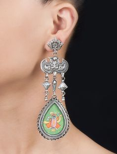 Buy Shree Nath Ji Silver Earrings by Amrapali Online at Jaypore.com