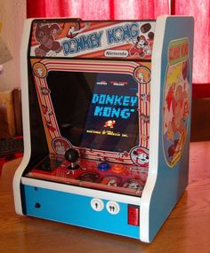 Donkey Kong Bartop Arcade Powered by RPi Arcade Stick, Mini Arcade, Donkey Kong, Retro Video Games, Video Game Art, Arcade Game Console, Diy Arcade Cabinet, Bartop Arcade, Retro Arcade Games