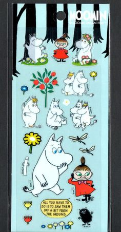 Moomin Stickers Sticker Sheets lot Kawaii Look Rare Little My Snorkmaiden D Moomin, Little My, Small Gifts, Snoopy, Kawaii, Stickers, Fictional Characters, Design, Art