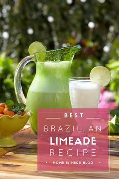 Brazilian Limeade Recipe: Quench summer thirst with a twist on a hot day beverage favorite. In our Outdoor Dining Tips post, we introduced readers to the perfect outdoor menu. Featured in the menu . Brazilian Limeade Recipe, Outdoor Dining, Beverages, Drinks, Menu, Drink Recipes, Blog, Tips, Table