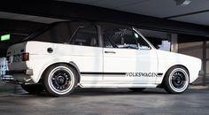 VW Volkswagen, Golf MK 1, Rabbit, Golf 1 Cabrio, Convertible, white Volkswagen, VDub, German